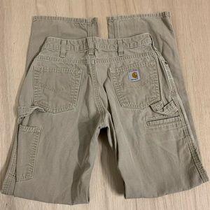 Carhartt Tan Pants Womens Size 26 x 30